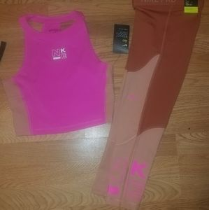 Nike Pro Capris with matching Top